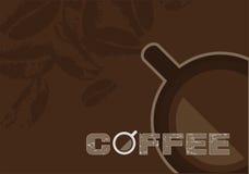 kaffedesignvektor Royaltyfri Bild