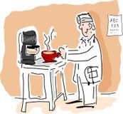 kaffedoktorsjpg stock illustrationer