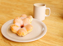 kaffedonutsstjärna Royaltyfri Foto