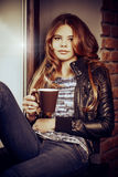 Kaffedrömmar royaltyfri foto