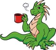 kaffedrake royaltyfri illustrationer