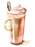 Kaffedrink med kräm Royaltyfri Bild