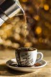 Kaffeeüberdosis Stockfotos