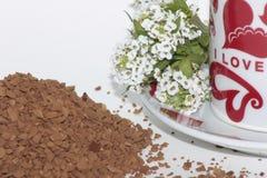 Kaffee aromatisch, romantischer Morgen lizenzfreies stockfoto