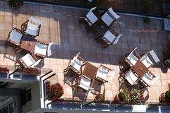 Kaffee auf Dachspitze Lizenzfreie Stockbilder