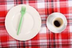 Kaffee auf einem Frühstückstische Stockbilder