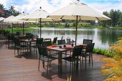 Kaffee auf einem See Stockfoto