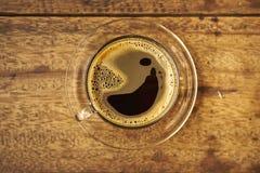 Kaffee auf hölzernem Lizenzfreie Stockbilder