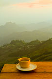 Kaffee auf Hügel Stockfotografie