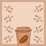 Kaffee auf Hahn und Korn Lizenzfreie Stockbilder