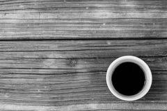 Kaffee auf Holz Stockfotos
