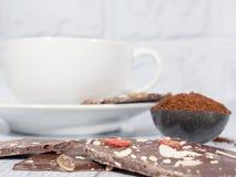 Kaffee auf weißem Hintergrund lizenzfreies stockfoto