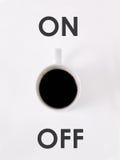 Kaffee AN/AUS Stockbild