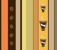 Kaffee-Auslegung Stockbilder