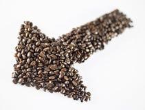 Kaffee Bean Shape Lizenzfreie Stockfotografie