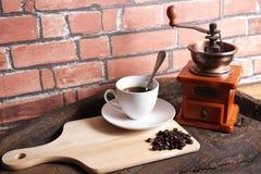 Kaffee bearbeitet Retro- maschinell Stockbild