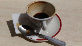 Kaffee beendet stockfotografie