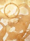 Kaffee beflecktes strukturiertes Papier lizenzfreies stockfoto