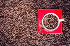 Kaffee, Bohnen, Braun, Morgen, Aroma, briet, Hintergrund lizenzfreie stockfotografie
