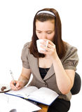 Kaffee-Brechen Sie, getrennt Lizenzfreie Stockfotografie