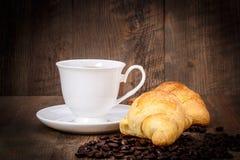 Kaffee, Brot, Bohnen Lizenzfreies Stockbild