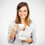 Kaffee-Bruch Stockfoto