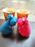 Kaffee-Bruch Stockfotos