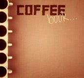 Kaffee-Buch. Stockbild