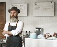 Kaffee-Café-Berufsdampf-einheitliches Gerätekonzept lizenzfreies stockfoto