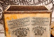 Kaffee-, Cicers- und Teehandel Stockbild