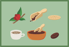 Kaffee clipart stockfotos