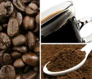 Kaffee-Collage Lizenzfreies Stockfoto