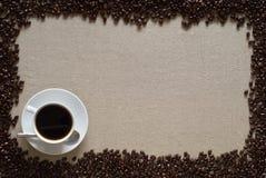 Kaffee CupLayout Lizenzfreies Stockfoto