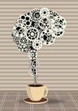Kaffee, der das Gehirn anregt Stockbilder