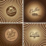 Kaffee in der Retro- Art Lizenzfreies Stockbild