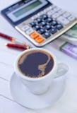 Kaffee in der Schale Lizenzfreies Stockbild
