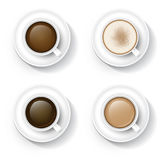 Kaffee in der Schale stock abbildung