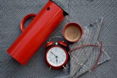 Kaffee in der Zeit Stockfotografie