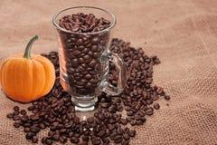 Kaffee des Herbstes. Lizenzfreies Stockbild