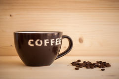 Kaffee in einer Schale Lizenzfreies Stockfoto