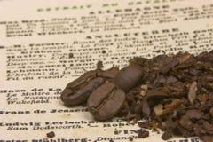 Kaffee erklärt Stockfotografie