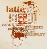 Kaffee, Espresso, Cappuccino Stockbild