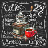 Kaffee, Espressovektorlogo-Designschablone vektor abbildung