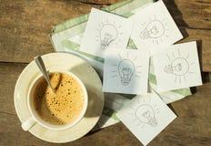 Kaffee für Idee Stockbilder