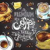 Kaffee für Ihre Auslegung Stockfotos