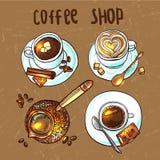 Kaffee für Ihre Auslegung Lizenzfreie Stockbilder