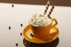 Kaffee für Nachtisch lizenzfreie stockfotos
