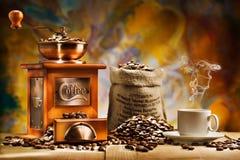 Kaffee für ruhige Lebensdauer Stockbild