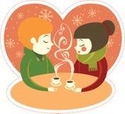 Kaffee für zwei Stockbild