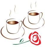 Kaffee für zwei stock abbildung